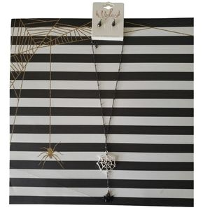 🎃 Viola Spiderweb Halloween Necklace Set